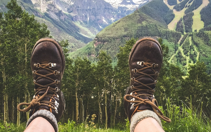Hiking in Telluride in the summer.